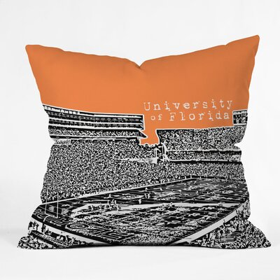 Bird Ave University Indoor/Outdoor Throw Pillow Size: 18 W, University: University Of Florida