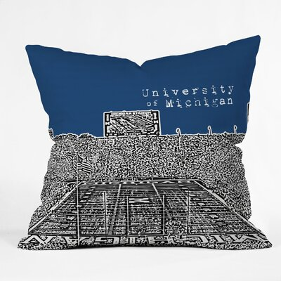Bird Ave University Indoor/Outdoor Throw Pillow Size: 18 W, University: University Of Michigan