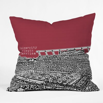 Bird Ave University Indoor/Outdoor Throw Pillow Size: 20 W, University: University Of South Carolina