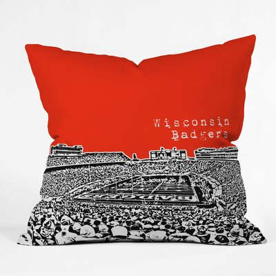Bird Ave University Indoor/Outdoor Throw Pillow Size: 18 W, University: Wisconsin Badgers