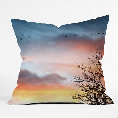 Bird Wanna Whistle Bird Line Indoor Throw Pillow Size: 16 x 16