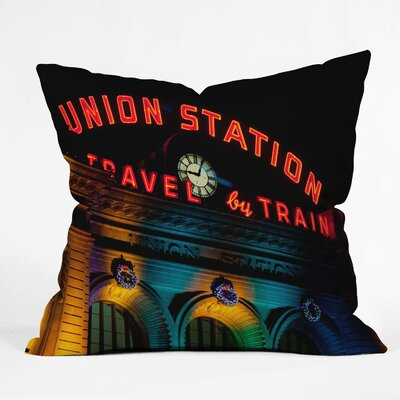 Bird Wanna Whistle Union Station Throw Pillow Size: 20 x 20