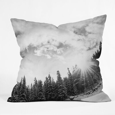 Bird Wanna Whistle Mountain Throw Pillow Size: 26 x 26
