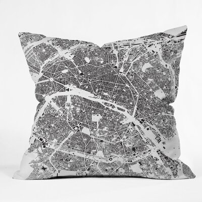 CityFabric Inc Paris Indoor/Outdoor Throw Pillow Color: White, Size: 18 W