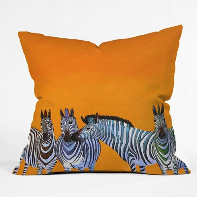 Clara Nilles Candy Zebra Throw Pillow Size: 18 H x 18 W