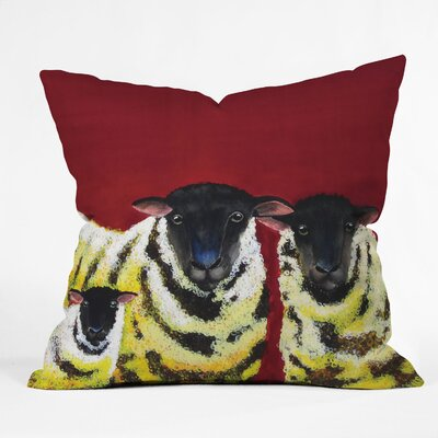 Clara Nilles Spongecake Sheep Throw Pillow Size: 18 x 18