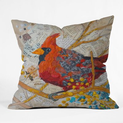 Elizabeth St Hilaire Nelson Cardinal Throw Pillow Size: Small
