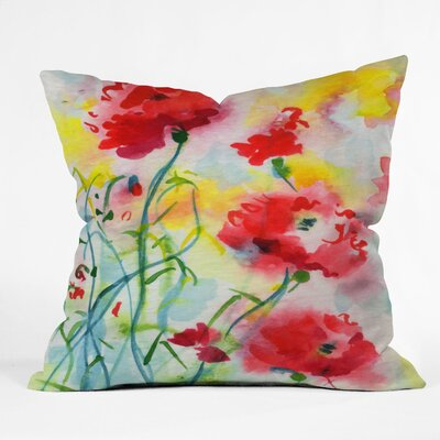 Ginette Fine Art If Poppies Could Only Speak Indoor/Outdoor Throw Pillow Size: Large