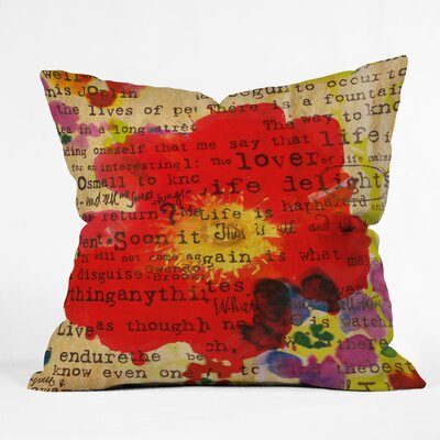 Irena Orlov Poppy Poetry 2 Throw Pillow Size: Small