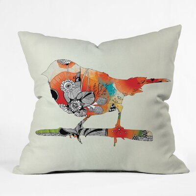Iveta Abolina Little Bird Throw Pillow Size: 18 x 18