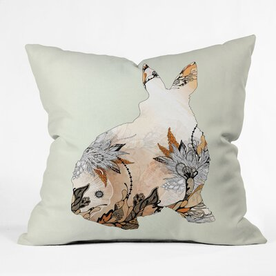 Iveta Abolina Little Rabbit Throw Pillow Size: 18 x 18