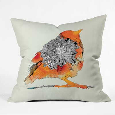 Iveta Abolina Bird Throw Pillow Size: 16 x 16