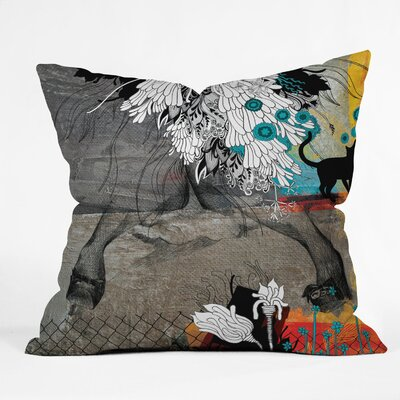 Iveta Abolina Stay Awhile Throw Pillow Size: 20 x 20