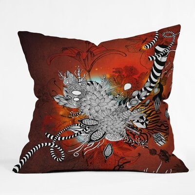 Wild Lilly Throw Pillow Size: 18