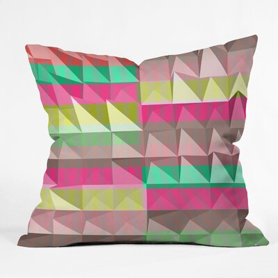 Jacqueline Maldonado Pyramid Scheme Throw Pillow Size: 18 x 18