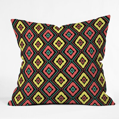 Jacqueline Maldonado Zig Zag Ikat Throw Pillow Size: 16 x 16, Color: Black Zig Zag Ikat