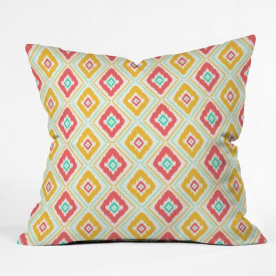Jacqueline Maldonado Zig Zag Ikat Throw Pillow Color: White Zig Zag Ikat, Size: 16 x 16