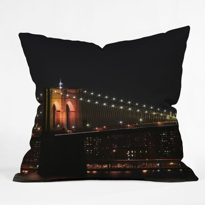 Leonidas Oxby Brooklyn Bridge 2 Throw Pillow Size: 16 x 16