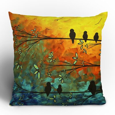 Madart Inc. Birds Of A Feather Throw Pillow Size: 16