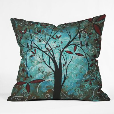 Madart Inc Romantic Evening Throw Pillow Size: 18 x 18