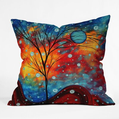 Madart Inc Summer Snow Throw Pillow Size: 20 x 20