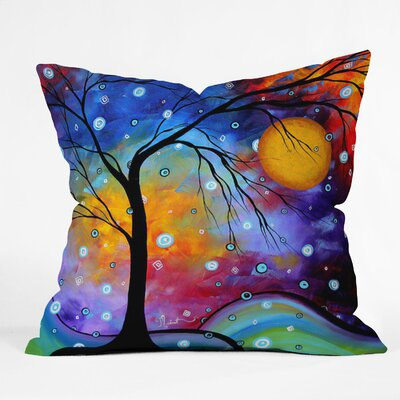 Madart Inc Winter Sparkle Throw Pillow Size: 18