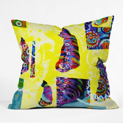 "Randi Antonsen Cats 1 Throw Pillow Size: 20"" x 20"