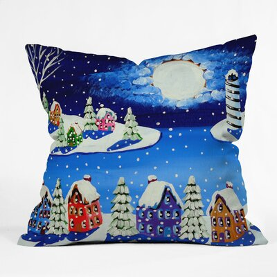 Renie Britenbucher Snowy Shoreline Throw Pillow Size: Large