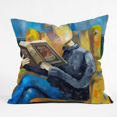Robin Faye Gates at the End of the Fork Throw Pillow Size: 16 x 16