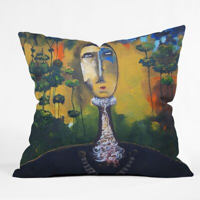 Robin Faye Gates Forest for Trees Throw Pillow Size: 18 x 18