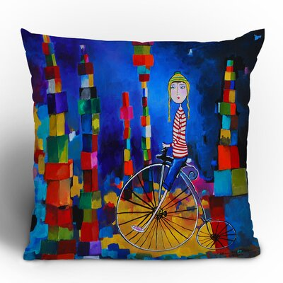 Robin Faye Gates Out of Bounds Throw Pillow Size: 16 x 16