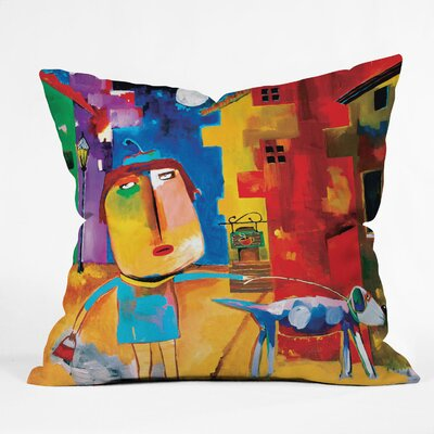 Robin Faye Gates Sylvia Needs Eggs Throw Pillow Size: 16 H x 16 W