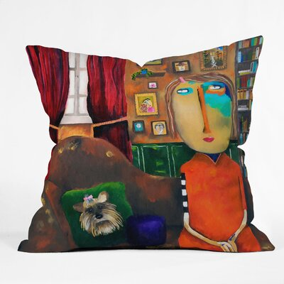 Robin Faye Gates Throw Pillow Size: 16 x 16