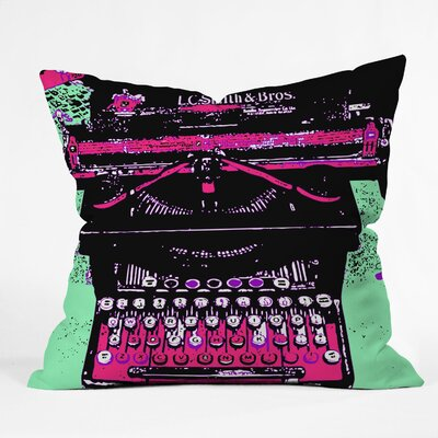 Romi Vega Antique Typewriter Throw Pillow Size: 20 x 20
