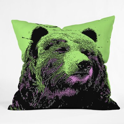 Romi Vega Bear Throw Pillow Size: 20 x 20