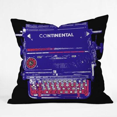 Romi Vega Continental Typewriter Throw Pillow Size: 16 x 16