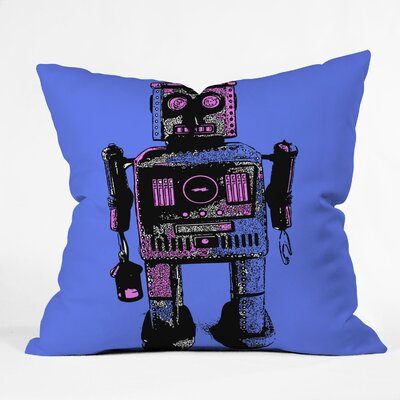 Romi Vega Lantern Robot Throw Pillow Size: 16 x 16