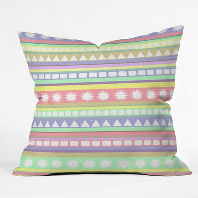 Romi Vega Pastel Pattern Throw Pillow Size: 20 x 20