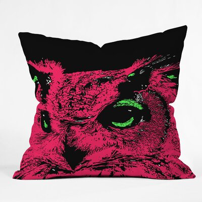 Romi Vega Owl Throw Pillow Size: 20 x 20