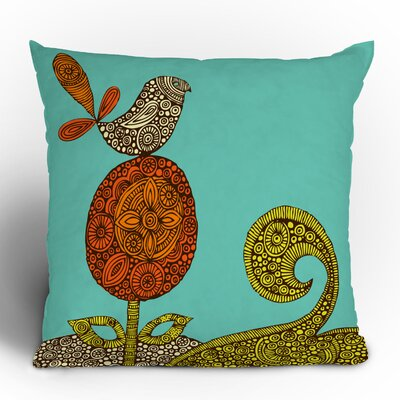 Valentina Ramos Bird in the Flower Throw Pillow Size: 20 x 20