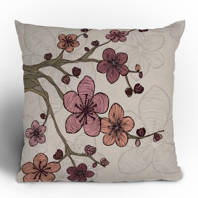 Valentina Ramos Blossom Throw Pillow Size: 18 x 18