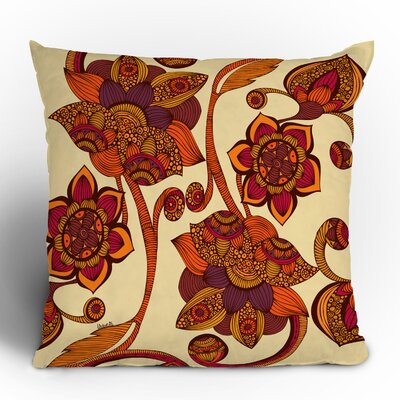 Valentina Ramos Boho Flowers Throw Pillow Size: 18 x 18