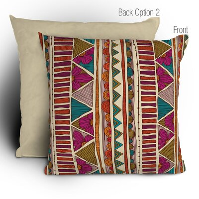Valentina Ramos Ethnic Stripes Throw Pillow Size: 18 x 18