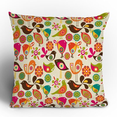 Valentina Ramos Little Birds Throw Pillow Size: 18 x 18