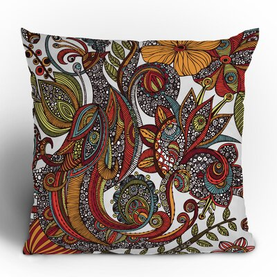 Valentina Ramos Paradise Bird Throw Pillow Size: 16 x 16
