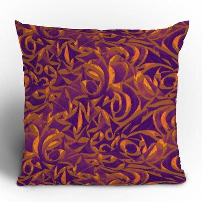 Wagner Campelo Abstract Garden Throw Pillow Size: 18 x 18, Color: Purple Abstract Garden 1