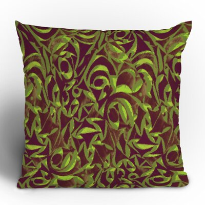 Wagner Campelo Abstract Garden Throw Pillow Size: 16 x 16, Color: Brown Abstract Garden 2