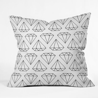 Wesley Bird Diamond Print Throw Pillow Size: 20 H x 20 W, Color: White Diamond Print 2