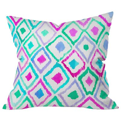 Watercolor Outdoor Throw Pillow Size: 16 H x 16 W x 5 D