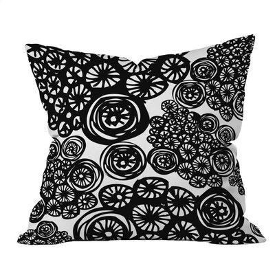 Circo Doodles Outdoor Throw Pillow Size: 26 H x 26 W x 4 D